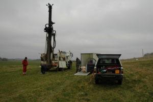 Forskere foretager målinger på VAP-mark